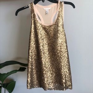 Gold sequin Top from H&M